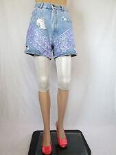 TOP Vtg Retro 90s Rework Custom Distress Hot Pants Denim Shorts sz 16 XL AQ93