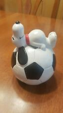 Vintage Ceramic Snoopy Soccer Ball Bank United Feature Syndicate Inc. 1958 1966