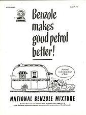 National Benzole Mercury Caravan car Product  Advertising 1953 Wellington House