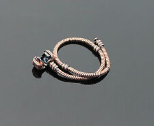 Popular 19cm Charm Brown LOVE European Bead Snake Chain Snap Clasp Bracelet