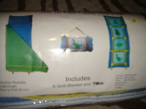 NEW NIP HOMETEX ALL IN ONE CHILD NAP ROLL  MAT DINOSAURS