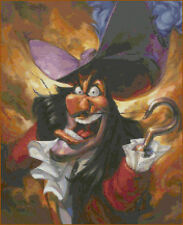 "Disney's Peter Pan's ""Angry Captain Hook"" Cross Stitch Pattern CD"