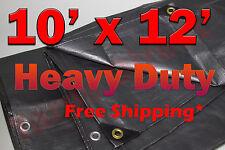 10x12 Silver Heavy Duty UV Treated Tarp 10x10 Peak Shade Canopy Cover Tarps Boat