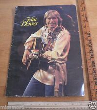 John Denver 1978 Concert tour program folk country TOUGH!