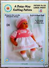 Dolls knitting pattern by Daisy-May for Annabell  No.236