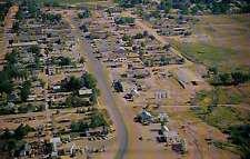 Aerial View of Roosevelt, Utah, US Hwy 40, Great Ute Indian Reservation Postcard