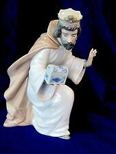 NAO BY LLADRO #413 KING MELCHIOR WITH CHEST BRAND NIB NATIVITY CHRISTMAS FREE SH