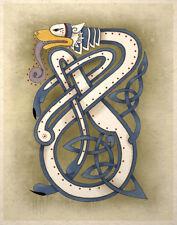 Celtic Art Print Wolf Animal Totem Wall Decor