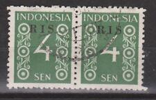 Indonesie Indonesie 45 RIS pair used 1950 R.I.S Serikat