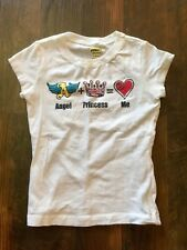 Size girls S white ANGEL+PRINCESS=ME t-shirt by FADED GLORY