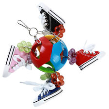 Creative Colorful Parrot Ball Sneakers Bite Parrot Chew String Toy ONE