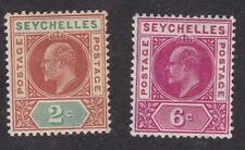 Seychelles - 1903 - 2c and 6c - SG46 and 48 - Mint  (A11E)