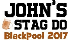Stag Do / Stag Night Personalised Iron On Transfer A5 Size