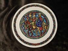 Noel Vitrail Guides Par L'Etoile  D'Arceau-Limoges France 8.5 Collector Plate