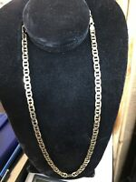 """Solid 14K Yellow Gold Anchor Link Chain Necklace 24"""" 7.1 mm 47 Grams Nice!!"""