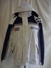 Cappotto da uomo-Ocean Pacific, taglia L, Blu scuro/Grigio/Bianco, Imbottito, ben utilizzato - 1252