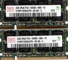 4GB (2x 2GB) Toshiba Satellite L500 L505 L505D L515 L550 L555 L555D DDR2 Memory