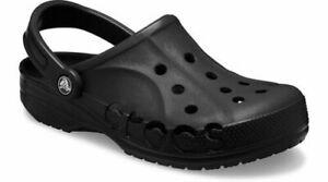 Crocs  ~ Black ~  Basic Crocs  ~ NEW Clogs  Mens  Size 8