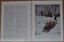 1936 magazine articles, Skiing in New England, Tuckerman's Ravine, color photos