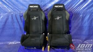 95 98 NISSAN SKYLINE GTR R33 BLACK RECARO TOMMY KAIRA SR3 RECLINABLE SEATS