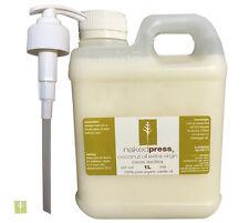 COCONUT OIL (FIJI) - COLD PRESSED (VIRGIN) - 100% ORGANIC - 1L + PUMP