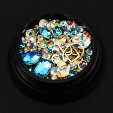 Nail Art Rhinestones 3D Mix Glitters Coloful Acrylic Manicure DIY Tips Stickers