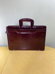 Red Formal Slim Laptop Computer Business Bag.