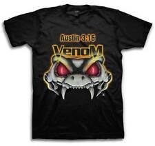 WWE Stone Cold Steve Austin Rattlesnake Venom Mens Short Sleeve Shirt Small S