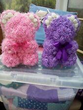 home made foam flower bear