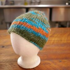 H&M DIVIDED Colorful Green Orange Wool Acrylic Blend Beanie Ski Winter Cap