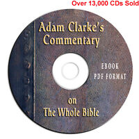 Adam Clarke's Commentary on Whole Bible-Christian Scripture Study CD-eBook PDF**