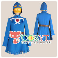 Nausicaa of the Valley of the Wind Naushika Blue Dress Figure Cosplay Costume