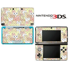 Vinyl Skin Decal Cover for Nintendo 3DS - Kitty Cat Pattern
