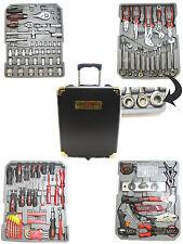 caisse a outils chrome avec cliquet uvanadium 256 piece boite trolley à tire