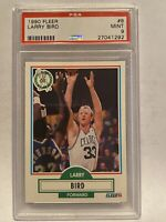 1990 Fleer basketball #8 Larry Bird card #27041292 Psa graded Mint 9