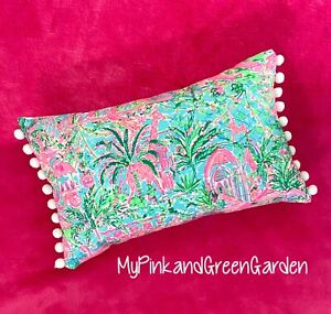 New throw pillow made with LILLY PULITZER Bali Blue Spotted On Worth fabric