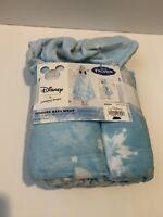 Hooded Bath Wrap Frozen Elsa Blue 25x50 Inch Disney Kids Towel New