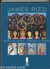 RIZZI JAMES LIVRE EXPOSITION 1996 MUSÉE LAUSANNE RÊVES DE SPORT EXHIBITION BOOK