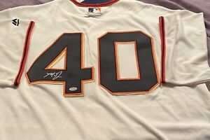 Autographed MADISON BUMGARNER S.F. White Jersey COA SchwartzSportsAunthic.com