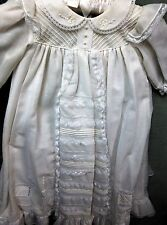 NWT Girls long Christening Gown with matching Hat from Will'Beth