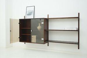 60er Rosewood Wall Shelf by Kai Kristiansen Regalsystem Palisander Regal 50er