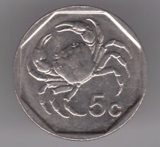 Malta 5 Cents 2001 Copper-Nickel Coin - Crowned Shield - Fresh-Water Crab