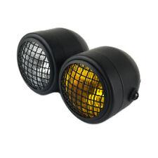 Twin Headlight Motorcycle Yellow Dual Lamp Street Fighter Custom Application