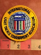 Angler Fisherman Patch - International Light Tackle Association - Fishing 77Z6