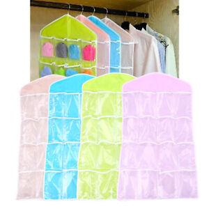 16 Pockets Hanging Bag Socks Bra Organizer Over the Door Storage Holder Rack