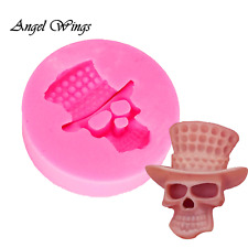 Gothic Skull Silicone Mold Mould for cake Icing decoration Halloween  M196