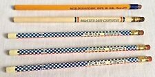 5 Farm Grain Feed Wooden Advertising Pencils Purina Chows Hatchery Dairy Vintage