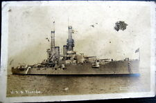 **1900's BATTLE SHIP ~ U. S. S. FLORIDA ~ Brown Bros. Real Photo PC  RPPC
