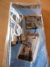 New Gold iPhone Galaxy 5 6 7 Phone case with USB cable