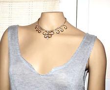 vintage Sarah Coventry Cov. large rhinestone choker necklace gold filigree